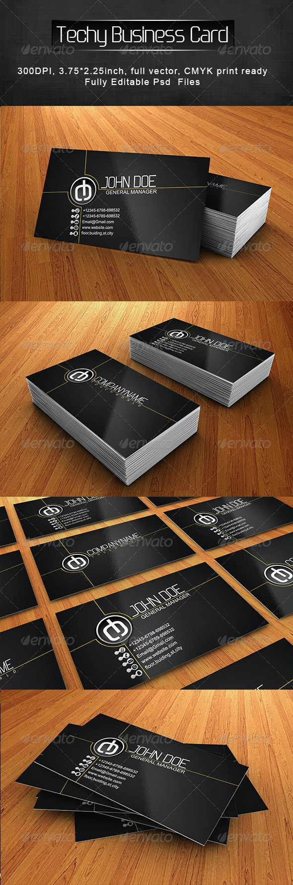Tech Business Card - Creative Business Cards