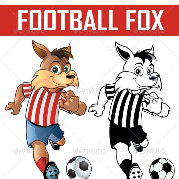 Football Fox Mascot