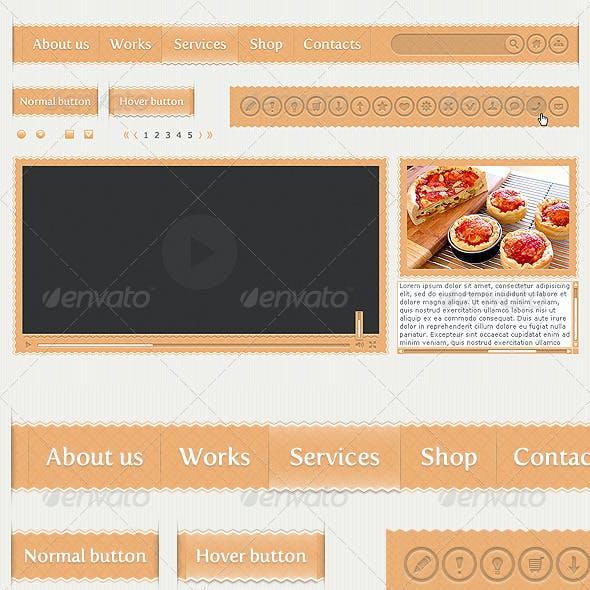 Smooth Zigzag User Interface (UI), web kit