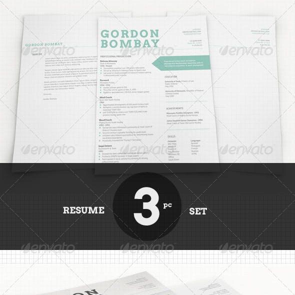 Modern Typographic Resume Set