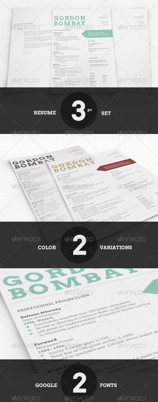 Modern Typographic Resume Set - Resumes Stationery