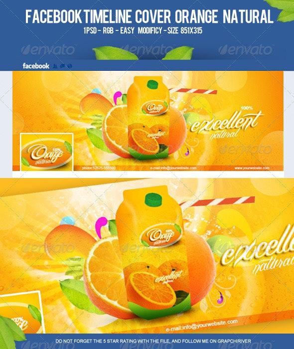 FB Timeline Cover Orange Natural - Facebook Timeline Covers Social Media