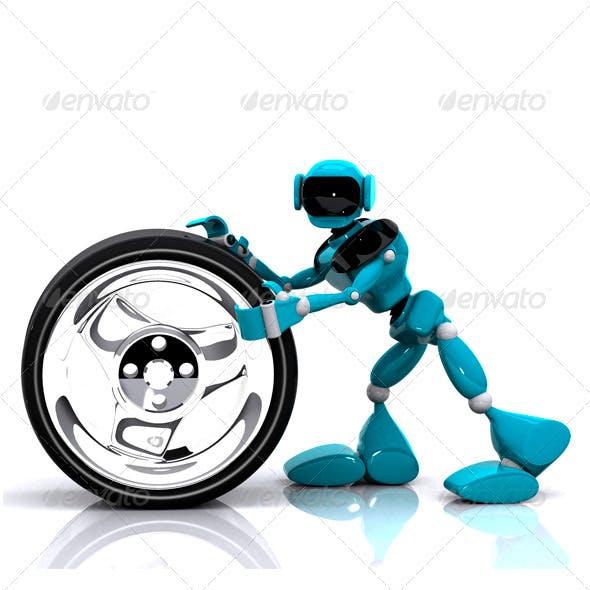 Robot and Wheel