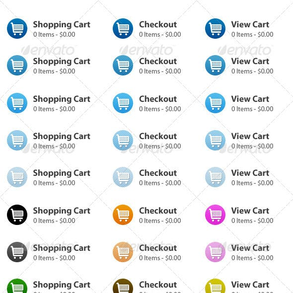 Shopping Cart Icon Button for eCommerce Checkout