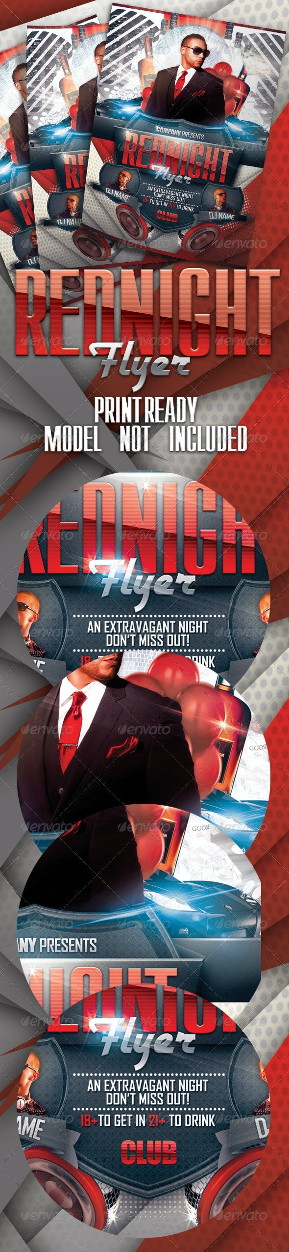 RedNight Flyer Template - Clubs & Parties Events