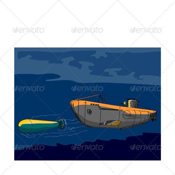 Submarine Boat Retro