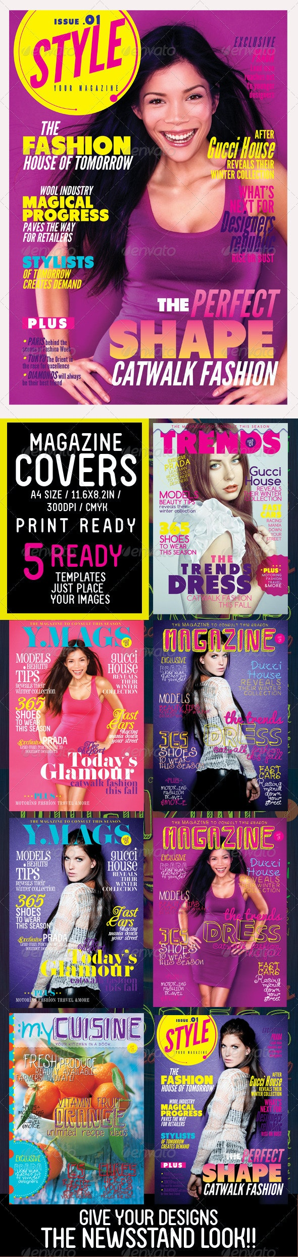 Magazine Covers Templates - Magazines Print Templates