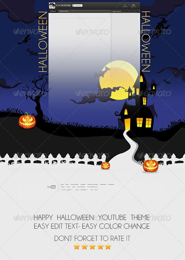 Halloween Youtube Channel Background - YouTube Social Media
