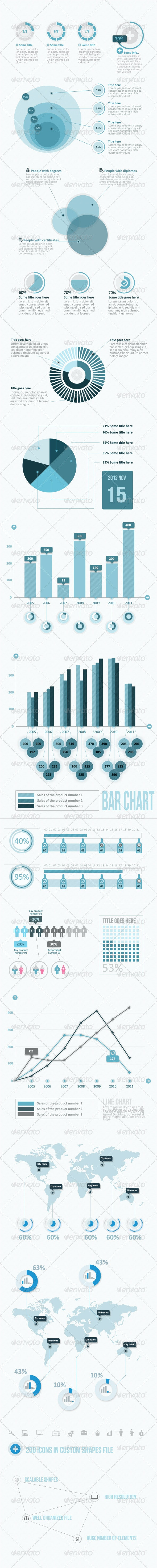 Infographic Elements Pack (BIg Pack) - Infographics