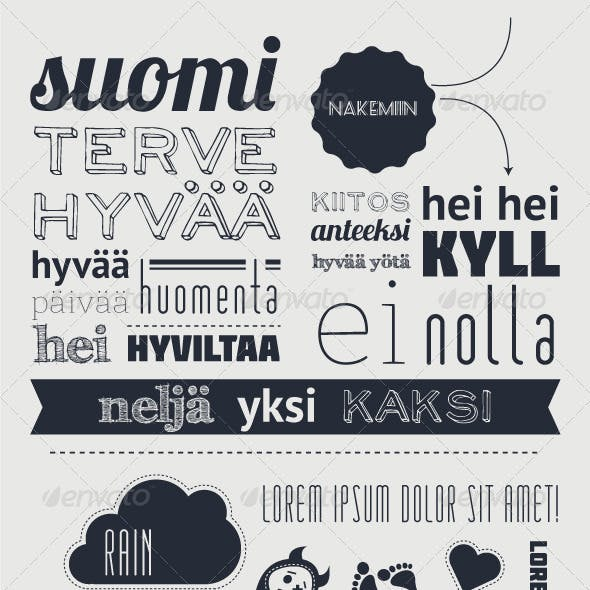 Typography with funny character