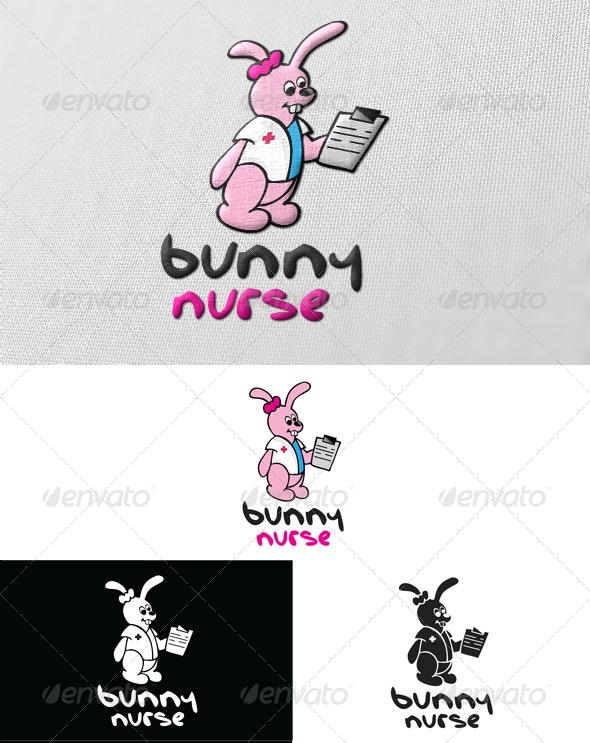 Bunny Nurse Logo - Animals Logo Templates