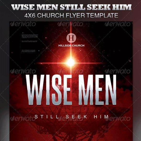 Wise Men Still Seek Him Church Flyer Template