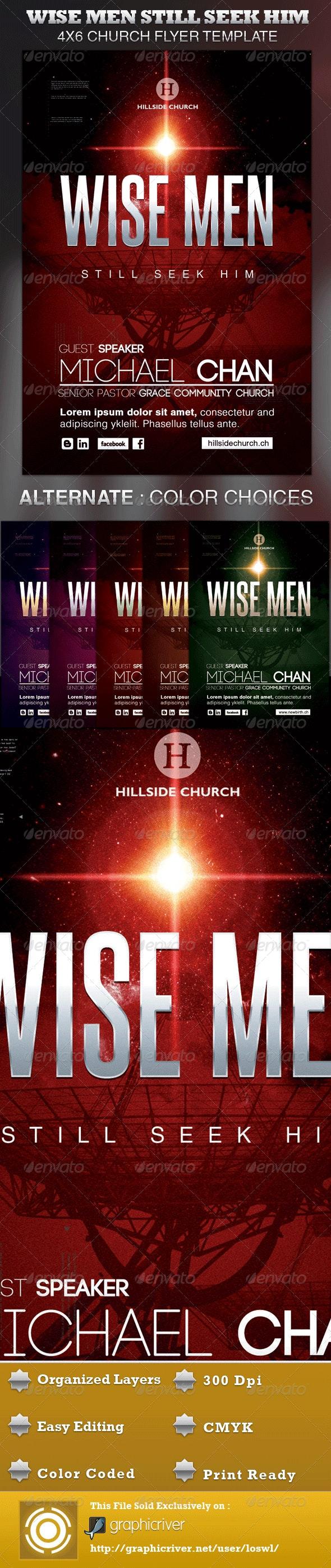 Wise Men Still Seek Him Church Flyer Template - Church Flyers
