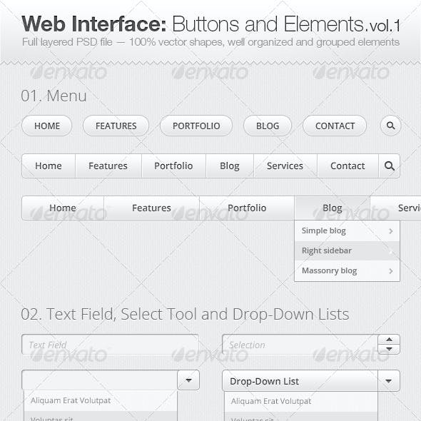 Web Interface: Buttons and Elements Collection