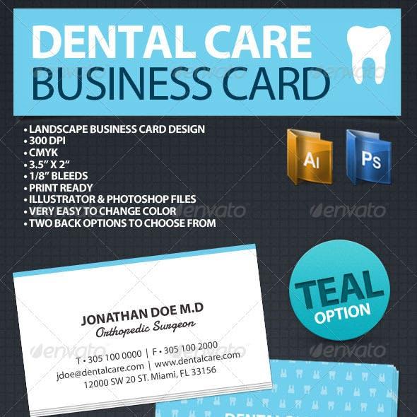 Dental Care Business Card
