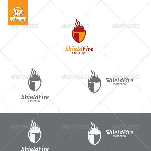 Shield Fire Logo Template