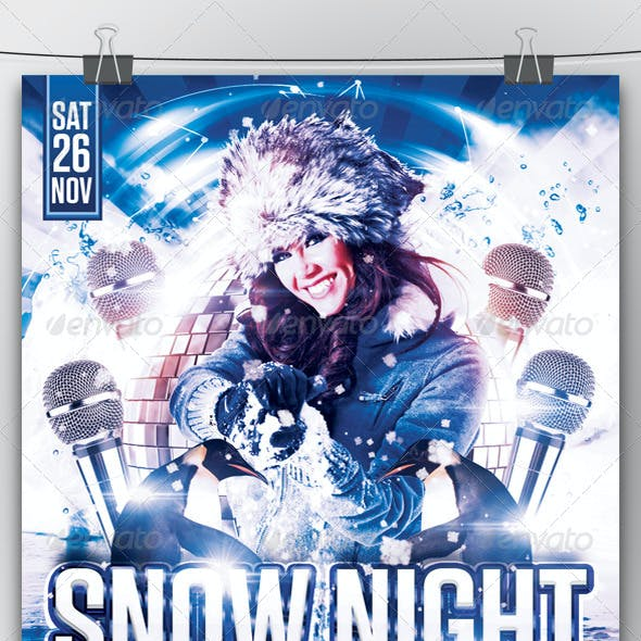 Snow Night Flyer