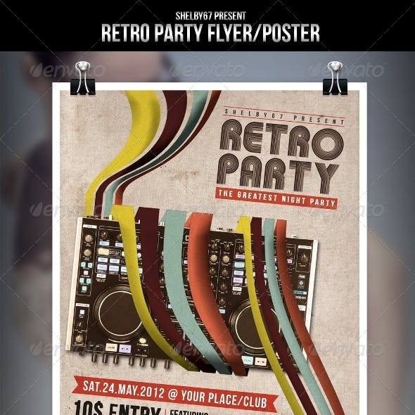 Retro Party Flyer/Poster
