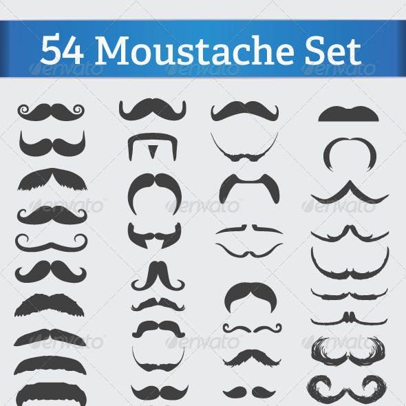 54 Mustache Set