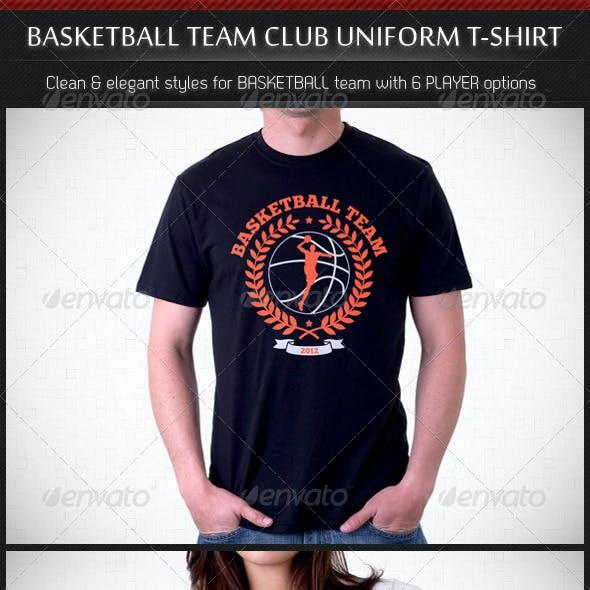 Basketball Team Club Uniform T-Shirt