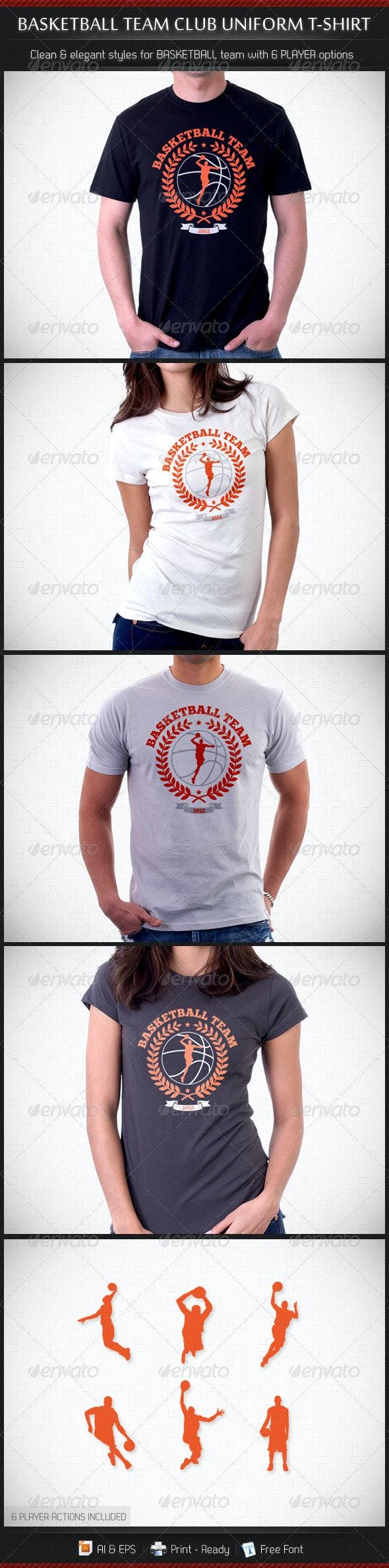 Basketball Team Club Uniform T-Shirt - Sports & Teams T-Shirts