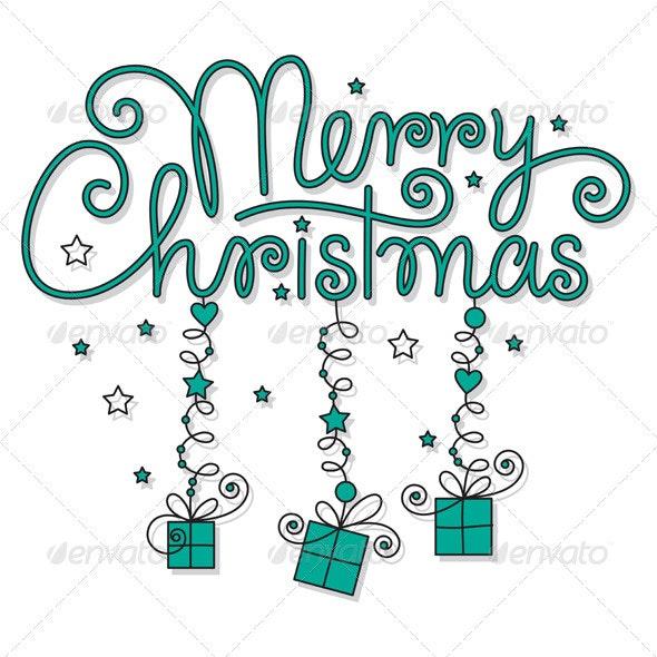 Merry christmas hand lettering - Christmas Seasons/Holidays