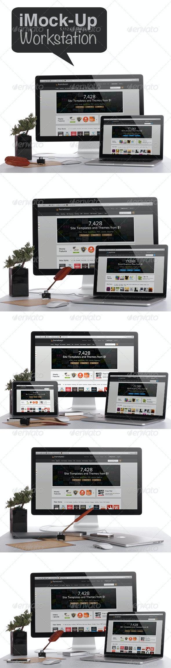 Workstation Mock-up - Multiple Displays