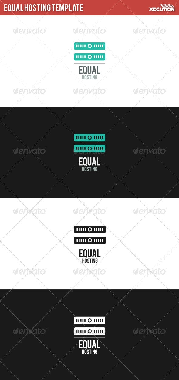 Equal Hosting Template - Abstract Logo Templates