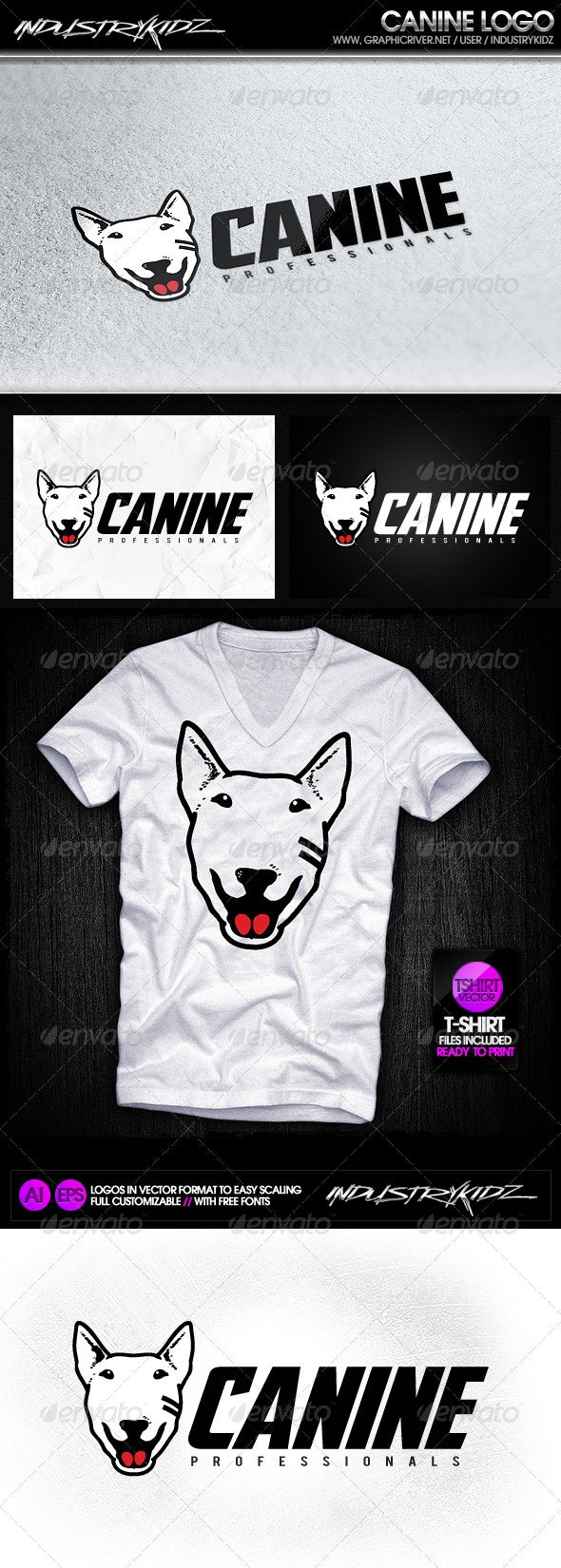 Canine logo template - Animals Logo Templates