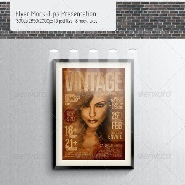Flyer Mock-Ups Presentation
