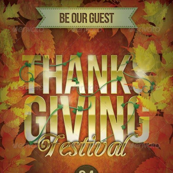 Thanksgiving Festival Flyer