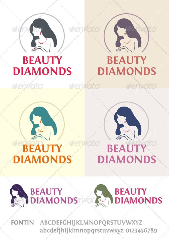 Beauty Diamonds Logo - Humans Logo Templates