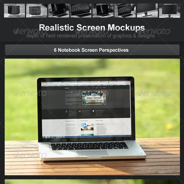 Realistic Screen Mockups