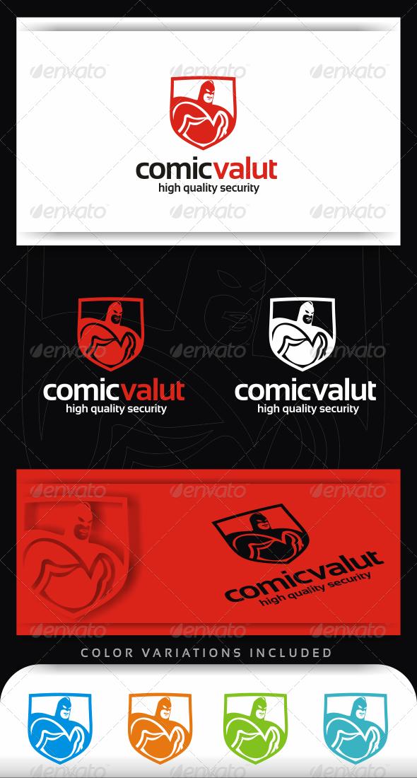 Comic Vault Logo Template