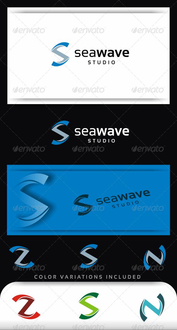 Sea Wave Logo Template - Abstract Logo Templates