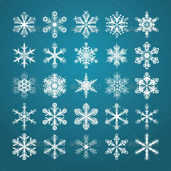 Snowflakes Set - Decorative Symbols Decorative