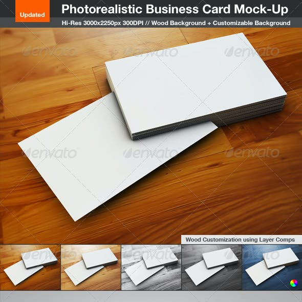 Photorealistic Business Card Mock-Up