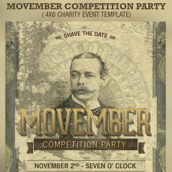 Movember Competition Party Flyer Template