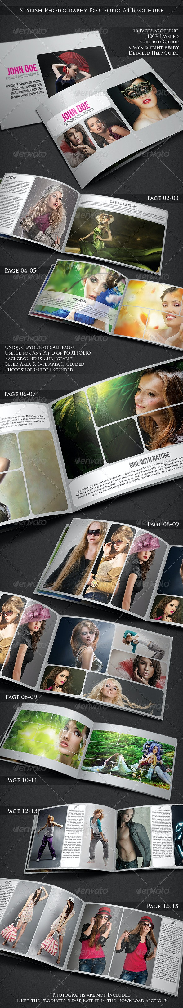 Stylish Photography Portfolio A4 Brochure - Portfolio Brochures
