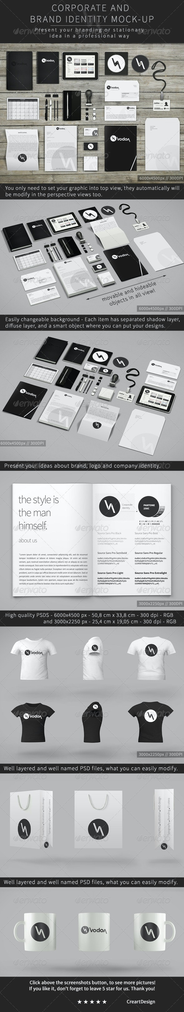 Corporate and Brand Identity Mock-Up for Photoshop - Stationery Print