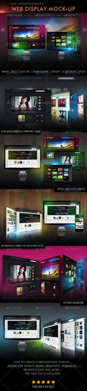 Web Display Mock-Up - Multiple Displays