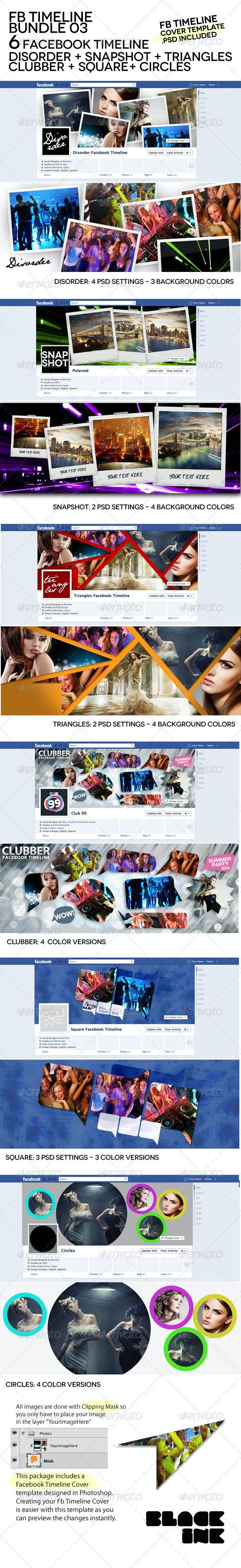 FB Timeline Bundle 03  - Facebook Timeline Covers Social Media