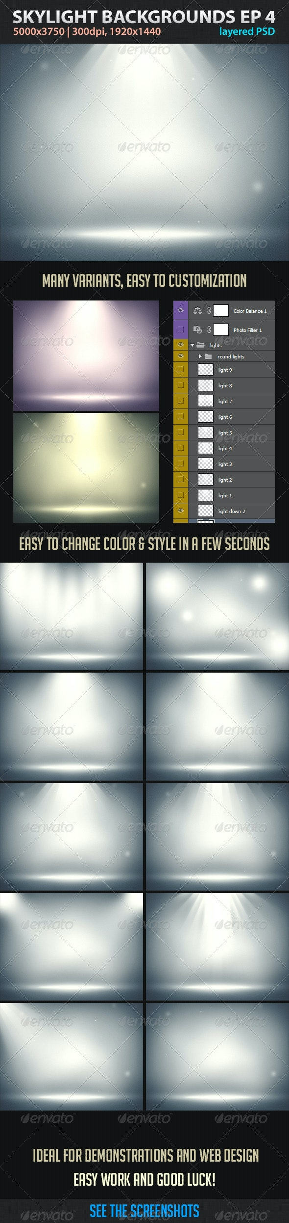 Skylight Backgrounds EP 4 - Abstract Backgrounds