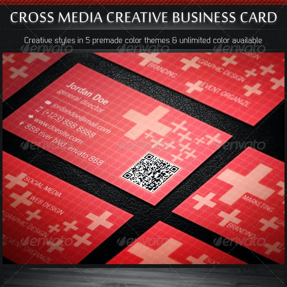 Cross Media Creative Business Cards 5 in 1
