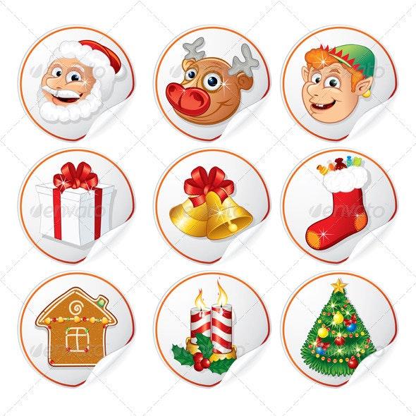Symbols Of Christmas.Christmas Characters And Symbols