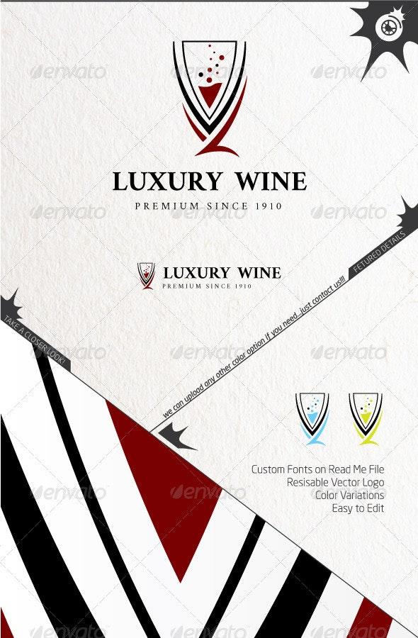 Luxury Wine Logo - Food Logo Templates