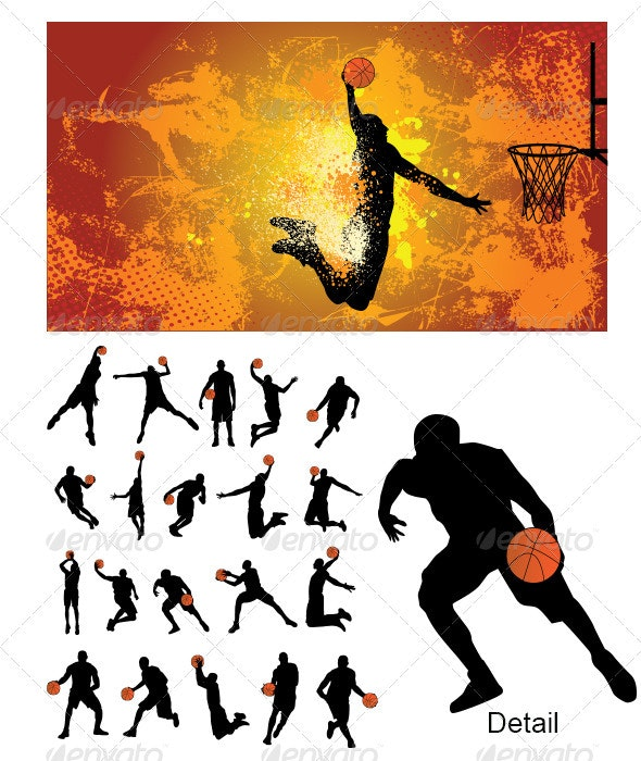 Basketball Player Silhouette - Sports/Activity Conceptual