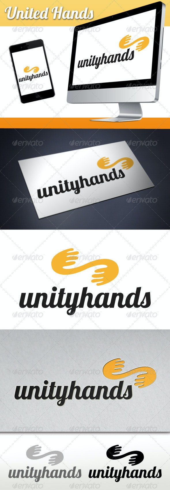 United Hands Logo - Humans Logo Templates