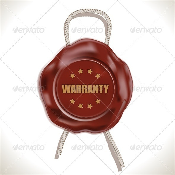 Warranty Wax Seal - Business Conceptual
