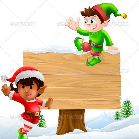 Christmas signillustration